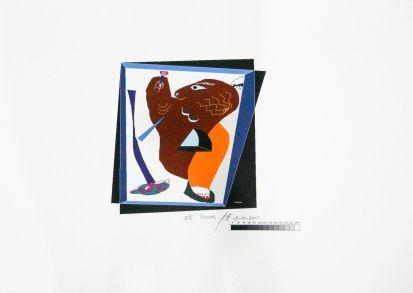 陳餘生,火炬,數碼版畫,70 x 100,2011