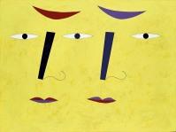 陳餘生,疊影,塑膠彩畫布,92 x 122厘米,2009