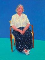 David Hockney, Margaret Hockney, 14th, 15th, 16th August, 2015. Acrylic on canvas. 121.9 x 91.4 cm. © David Hockney Photo credit: Richard Schmidt.