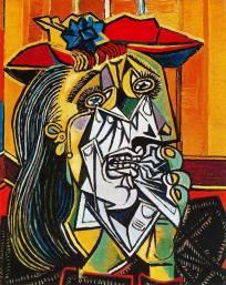 畢卡索以朵拉憂傷的形象創作了名畫《哭泣的女人》,刻畫了一位極其悲傷的女人,悲淒的命運和感情由粗放的顏色和勁利的筆觸反映出來。