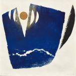 陳庭詩 晝夜之八十四 91 x 91厘米 木刻版畫 1983