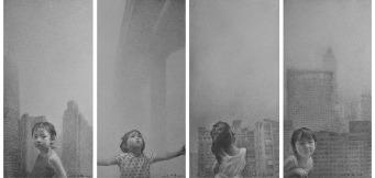 家園No.1-4,77 x 38.5厘米@,鉛筆素描紙本,2016