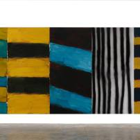 Sean Scully Full House, 2015 Oil and acrylic spray on aluminum 110 x 266.5 in. (279.4 x 676.9 cm) ©Sean Scully