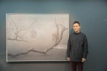 四川畫家朱毅勇與《心境No.29》,120 x 160厘米,油彩布本,2015
