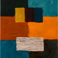 Sean Scully Untitled (Robe Figure), 2017 Oil on linen 32.1 x 28.1 in. (81.5 x 71.5 cm) © Sean Scully