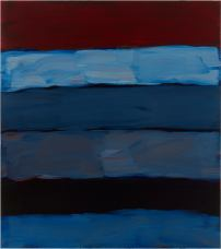 Sean Scully Landline Rim, 2017 Oil on aluminum 85 x 75 in. (215.9 x 190.5 cm) © Sean Scully