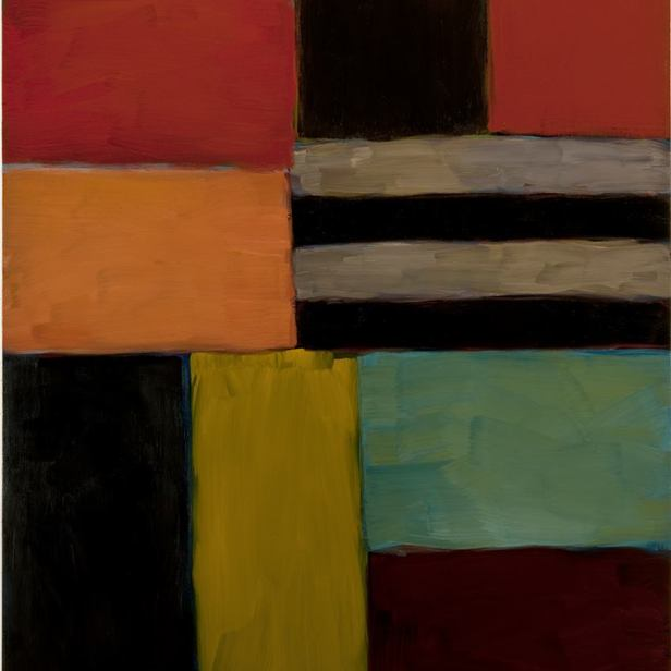 Sean Scully Cut Ground Green 8.11, 2011 Oil on linen 84.6 x 74.7 in. (215 x 189.8 cm) © Sean Scully