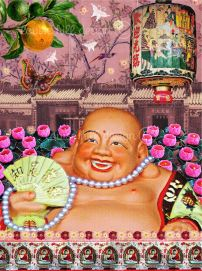 """""""Happy Laughing Buddha"""" by Louise Hill"""