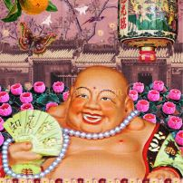 """Happy Laughing Buddha"" by Louise Hill"