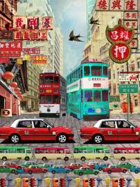 """""""Hong Kong Taxi"""" by Louise Hill"""