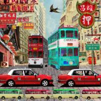 """Hong Kong Taxi"" by Louise Hill"
