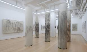 Installation view of Landscape Totem Series