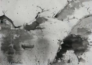 傲雪 Hazel Li 李曦彤 Ink on paper 47 x 67 Bronze Award - Junior Student Category: Abstract