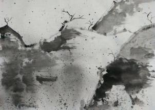 傲雪 Hazel Li 李曦彤 Ink on paper 47 x 67 Bronze Award - Junior Student Category: Abstract