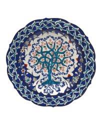 生命樹紋碟 莫末切‧高索,伊兹尼克陶瓷工作室, 屈塔希亞 Plate with tree of life Mehmet Gürsoy, İznik Çini, Kütahya 2017 Fritware, underglaze-painted Diameter 30 cm © Courtesy of Mehmet Gürsoy