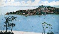 龎均,《媽媽最後的回憶》(鼓浪嶼),2012,布面油畫,175 x 300 cm;圖片由藝術家及置地公司提供 Pang Jiun, My Mother's Last Memory (Gulangyu Island), 2012, Oil on canvas, 175 x 300 cm; Courtesy to the artist and HongKong Land.