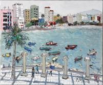 龎均,《赤柱風情》(香港),2008,布面油畫,60.6 x 72.7 cm;圖片由藝術家及置地公司提供 Pang Jiun, Landscape of Stanley (Hong Kong), 2008, Oil on canvas, 60.6 x 72.7 cm; Courtesy to the artist and HongKong Land.