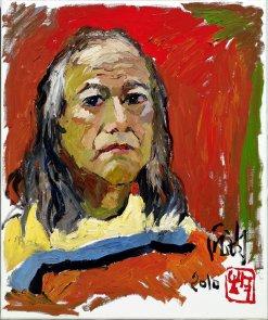 龎均,《自畫像》,2010,布面油畫,72.7 x 60.6 cm;圖片由藝術家及置地公司提供 Pang Jiun, Self-Portrait, 2010, Oil on canvas, 72.7 x 60.6 cm; Courtesy to the artist and HongKong Land.