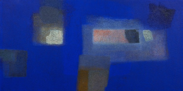 IN BLUE Jan '12 Katsuyoshi Inokuma 100.0 x 200.0 2012 Acrylics, Coffee powder on board