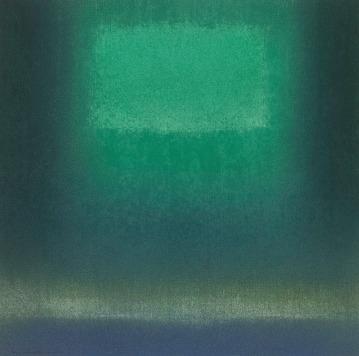 IN DARK GREEN Jun '15 Katsuyoshi Inokuma 30.0 x 30.0 2015 Pastel on Paper