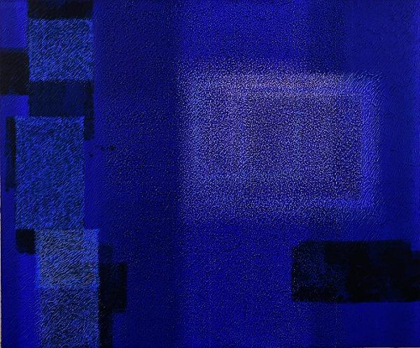 IN BLUE May'18 (II) Katsuyoshi Inokuma 61.0×73.0 2018 Acrylic, Coffee powder on panel