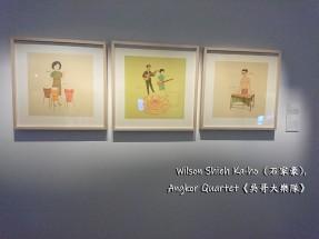石家豪,《吳哥大樂隊》,2004年,水墨設色絹本 Wilson Shieh Ka-ho, Angkor Quartet, 2004, Ink Art Painting