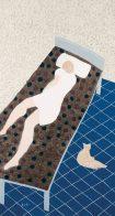 朱興華,不再想了,1993,水墨設色紙本,175 x 96 cm;圖片由藝術家及漢雅軒提供 CHU Hing Wah, Sleep It Off, 1993, Ink and Colour on Paper, 175 x 96 cm; Image Courtesy of the Artist and Hanart TZ Gallery