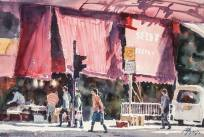 沈平,香港炮台山木星街,水彩紙本 (2017)