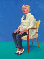 David Hockney, Celia Birtwell, 31st August, 1st, 2nd September, 2015. Acrylic on canvas. 121.9 x 91.4 cm. © David Hockney Photo: Richard Schmidt.