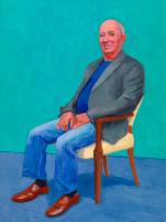 David Hockney, David Juda, 22nd, 23rd, 25th March, 2015. Acrylic on canvas. 121.9 x 91.4 cm. © David Hockney Photo credit: Richard Schmidt.