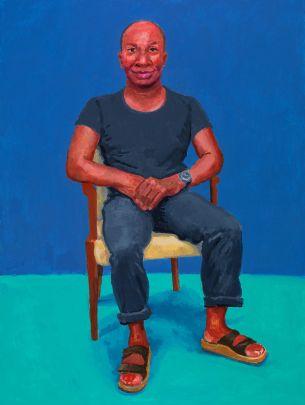 David Hockney, Earl Simms, 29th February, 1st, 2nd March, 2016. Acrylic on canvas. 121.9 x 91.4 cm. © David Hockney Photo credit: Richard Schmidt.