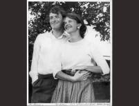 Ted Hughes and Sylvia Plath in Yorkshire, England | Harry Ogden | 1956, Photograph | Mortimer Rare Book Collection, Smith College, Northampton, Massachusetts