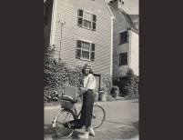 Sylvia Plath standing beside her bicycle, Marblehead, Massachusetts, 1951 | Marcia B. Stern | Photograph, 1951 | Courtesy Mortimer Rare Book Collection, Smith College, Northampton, Massachusetts