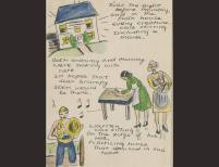 """""""Twas the Night Before Monday""""   Sylvia Plath   Undated, Paper   Courtesy The Lilly Library, Indiana University, Bloomington, Indiana © Estate of Sylvia Plath"""