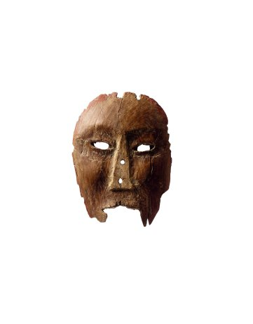 A Carved Wood Inupiaq Mask, Ancient Eskimo, Alaska, 15th Century