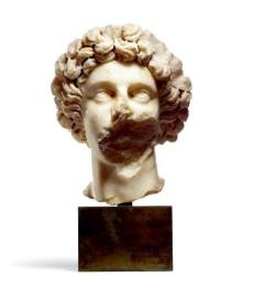 A fragmentary Roman Marble Portrait Head of a Youth Severan (Small)