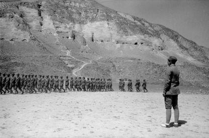 八路軍軍隊。 瓦特爾‧博薩特 延安, 1938年5月。 Troups of the Communist Eighth Route Army. Walter Bosshard Yan'an, China, May 1938.