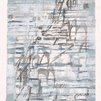 維埃拉.席爾瓦,無題,孔版-絲網版,64.8 x 49.8厘米,日期不詳