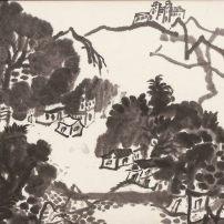 潘筱瑛,風景,紙本水墨,47.5 x 59.2厘米,1980年代