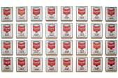 Campbell's Soup Cans Andy Warhol 1962 Synthetic polymer paint on thirty-two canvases Each canvas 50.8 x 40.6 cm