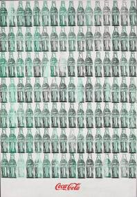 Green Coca Cola Bottles Andy Warhol 1962 Oil on Canvas 209.6 cm × 144.8 cm