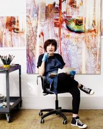 Marilyn Minter Photo by Nadya Wasylko Courtesy to the artist, Lehmann Maupin, Hong Kong, and Salon 94, New York