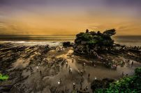 Tanah Lot, Indonesia 2018 (original film shot in 2010) Ink and colour photograph on Japanese art paper 90 x 70 cm