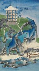 羅穎,《薰》,2011,水墨設色絹本,45 x 25 cm;圖片由藝術家及漢雅軒提供 Luo Ying, Fragrant World, 2011, Ink and Colour on Silk; Courtesy to the artist and Hanart TZ Gallery