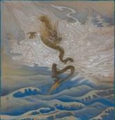 羅穎,《山水小品》,2017,水墨設色絹本,27 x 26 cm;圖片由藝術家及漢雅軒提供 Luo Ying, Miniature Landscape, 2017, Ink and Colour on Silk; Courtesy to the artist and Hanart TZ Gallery