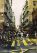 趙綺婷,靈魂伴侶,2018,水彩紙本,38 x 56 cm;圖片由藝術家及數碼港艾美酒店提供 Chiu Yee Ting, Soul Mate, 2018, Watercolor on paper, 38 x 56 cm; Courtesy of the artist and Le Méridien Cyberport