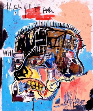 Untitled (Skull), Jean-Michel Basquiat, 1981, Acrylic and oil stick on canvas, 206 x 176 cm, Courtesy to the artist ©Jean-Michel Basquiat