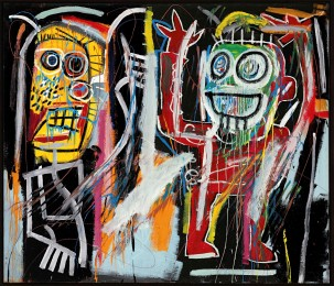 Dustheads, Jean-Michel Basquiat, 1982, Acrylic, oil stick, spray enamel and metallic paint on canvas, 182.8 x 213.3 cm, Courtesy to the artist ©Jean-Michel Basquiat
