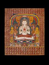 Thangka of Vairocana Nepal, Drigung Kagyu School 14th century Distemper on cloth H. 93 x W. 73.8 cm. Provenance: European Private Collection Carlton Rochell Asian Art, New York
