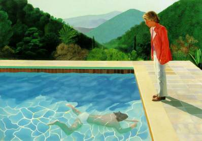 Portrait of an Artist (Pool with Two Figures) 1971 Acrylic on canvas 214 x 305 cm Courtesy of the artist © David Hockney